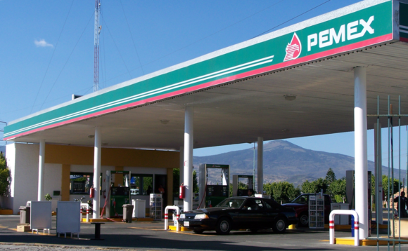 Pemex petrol station in Mexico. Image via Wikipedia user Magister Mathematicae
