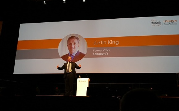 King spoke at the Teradata Universe 2018 conference in London