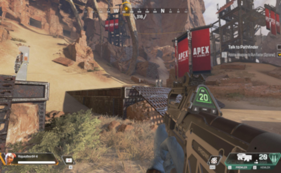 Screenshot from the online multiplayer game Apex Legends
