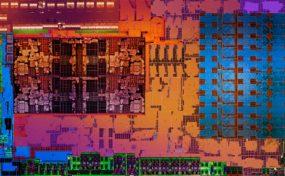AMD Ryzen APU die image from the company's October 2017 launch