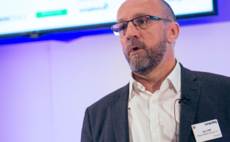 Royal BAM Group's Ian Hill speaking at Computing's Security Live in 2019