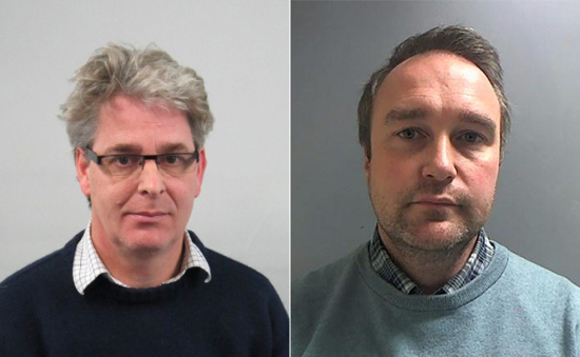 Guilty men: Peter Lewis and Richard Moxon jailed over NHS corruption