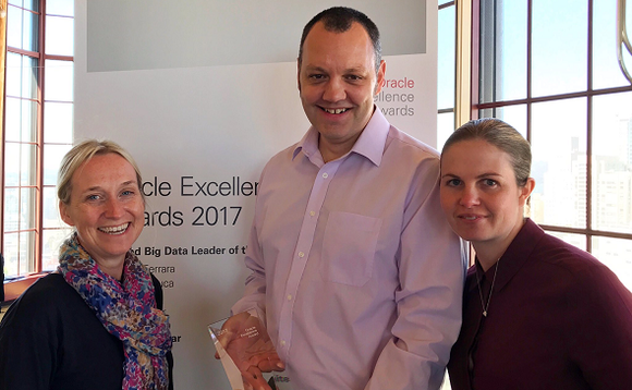 Haigh (right) with NHSBSA CIO Nina Monckton (left) and database administrator Peter Barker at Oracle OpenWorld