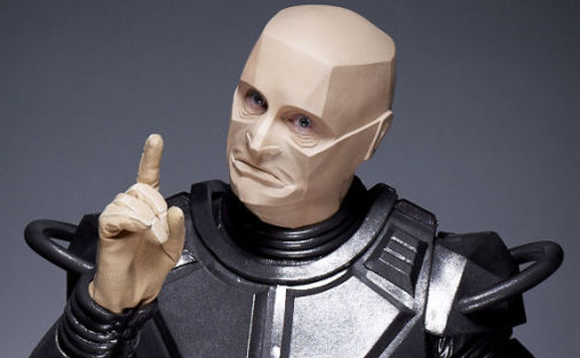 Kryten, from the comedy series Red Dwarf, is not impressed. Image copyright BBC