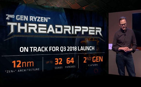 Jim Anderson, general manager, Computing and Graphics Business Group at AMD, launching Threadripper 2