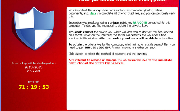 CryptoWall ransomware uninstalls if it finds itself running on a PC in Russia, Belarus or Ukraine