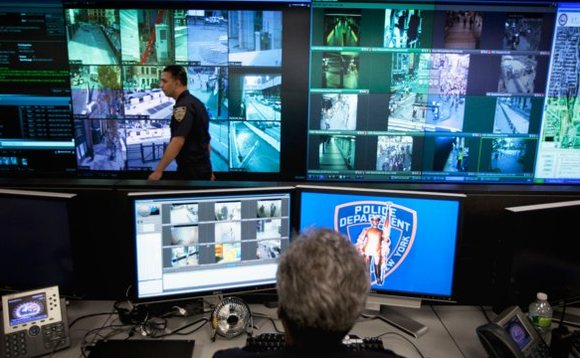 NYPD's Lower Manhattan Security Centre, where police monitor surveillance operations 24/7