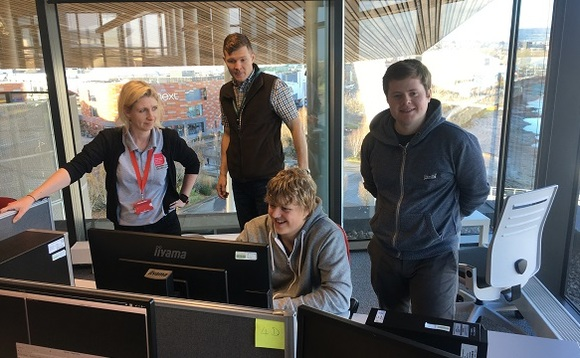Clare Johnson, left, leads cyber security courses at the University of South Wales