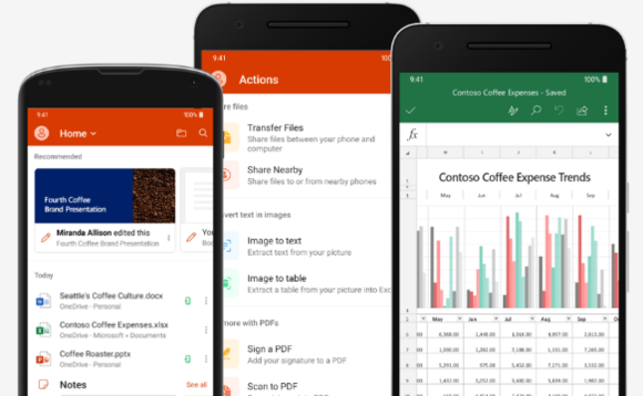 Microsoft Office Mobile app on Android and iOS