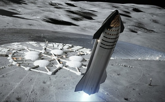 Starship is designed to carry dozens of people to the Moon and Mars. Image: SpaceX via Twitter
