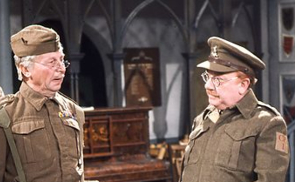 Corporal Jack Jones and Captain Mainwaring in the BBC comedy Dad's Army. Image copyright BBC