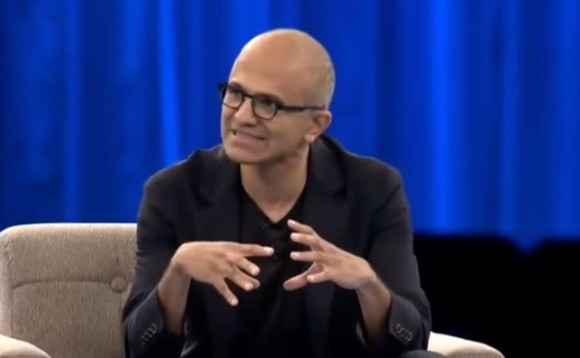 "Satya Nadella: AI will need a ""set of design principles"" to keep it in its place"