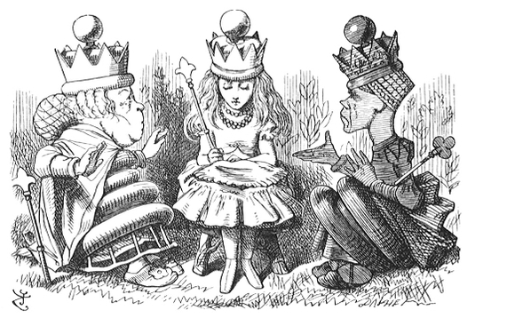 Alice Through the Looking Glass - original illustration. Illustrator: John Tenniel