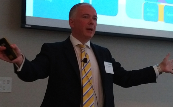 IBM's Steve Norledge presenting at Computing's IT Leaders Forum in Manchester