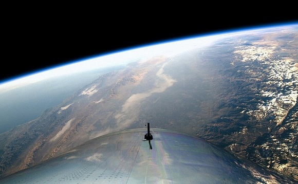 Virgin Galactic's supersonic plane reaches the edge of space in first manned test flight
