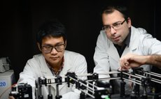 Dr Riesen and PhD student Xuanzhao Pan demonstrate their nanocrystal-based storage idea