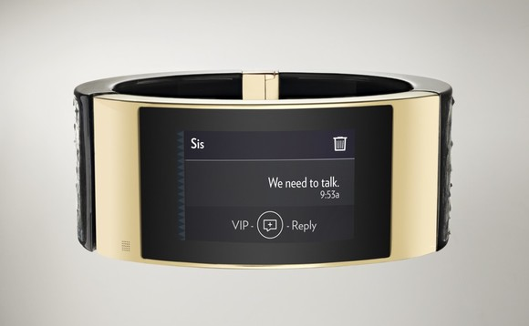 Intel's luxury bracelet will connect users to Facebook, Google and Yelp