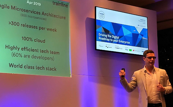 Trainline CTO Mark Holt at Computing's IT Leader's Summit last week