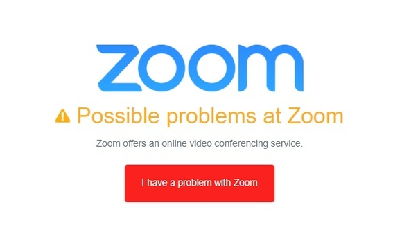 Global outage prevented thousands of Zoom users from joining meetings on Sunday. Image via Downdetector.