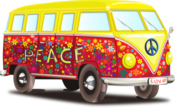 VW 'peace wagon'. Image by OpenClipart-Vectors on Pixabay