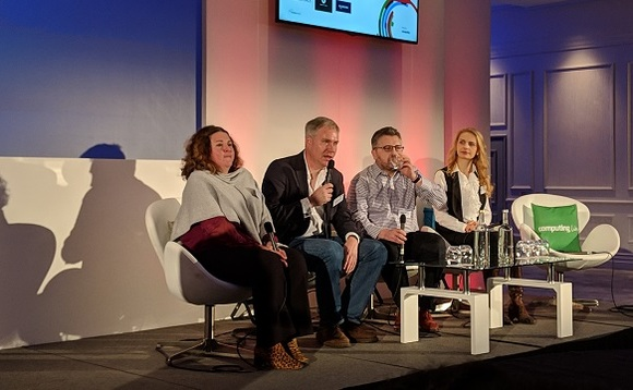 Gaynor Collins Punter, David Hoyle, Wilson Sinclair and Natalia Konstantinova sat on the panel at Computing's AI & Machine Learning Live event