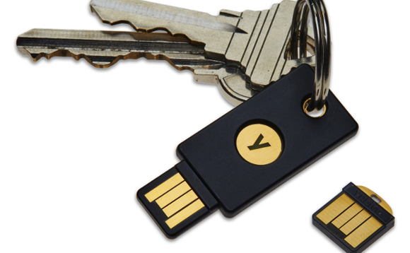YubiKeys are a well-known FIDO complaint authentication device