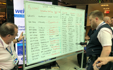 Gatwick passengers forced to read flight information from white boards after information screens go down