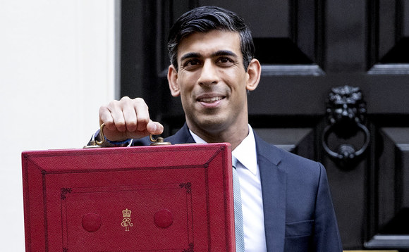 New Chancellor of the Exchequer Rishi Sunak posing for photographs ahead of today's Budget