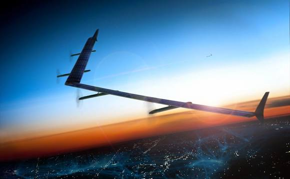 Facebook Project Aquila drone in flight test