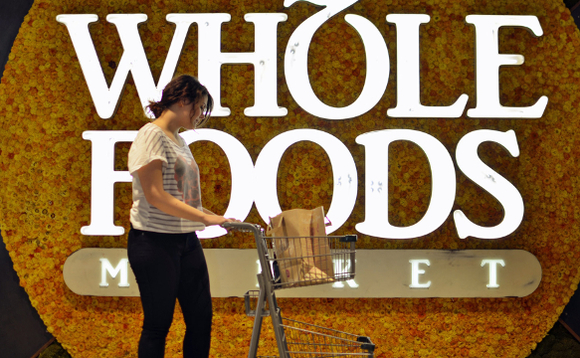 Shopper at Whole Foods wistfully lamenting how little her pay cheque buys at the supermarket