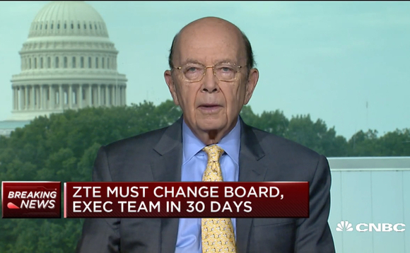 US Secretary of State for Commerce, Wilbur Ross, appearing on CNBC this morning