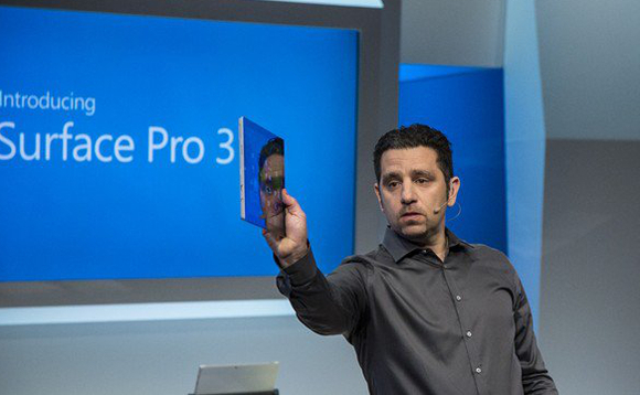 Panos Panay, Microsoft's head of Surface devices, at a previous launch event