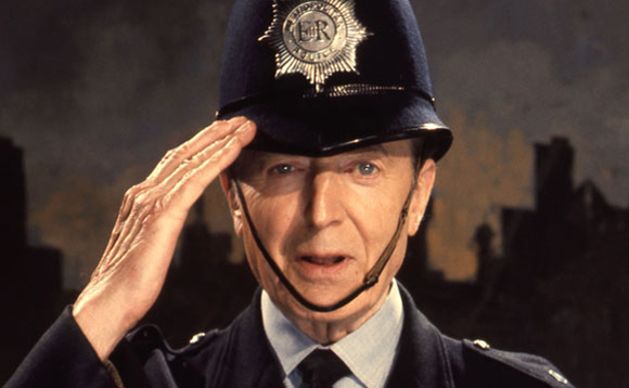 PC Dixon of Dock Green reporting for cyber duty. Image copyright BBC