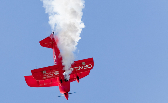 Team Oracle bi-plane in action over the skies of California