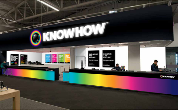 A KnowHow booth at a Currys PC World superstore