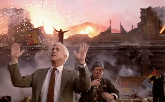 'Nothing to see here' - Leslie Nielsen in the Naked Gun. Image copyright Paramount Pictures