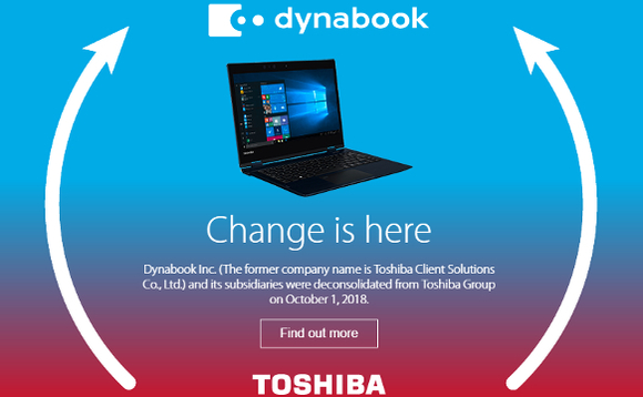 Toshiba Europe to rebrand as Dynabook