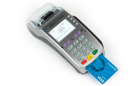 Verifone chip-and-pin terminal