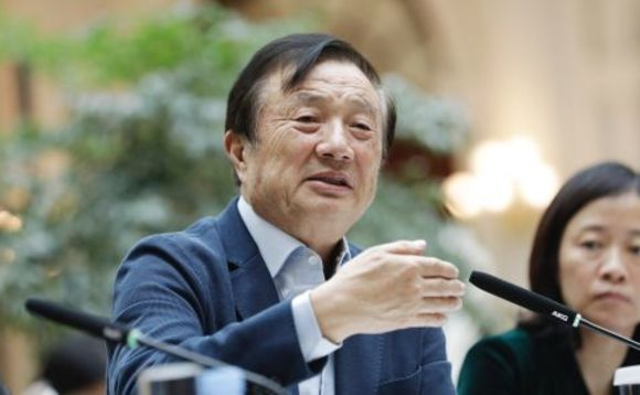 Ren Zhengfei at a press conference earlier this year
