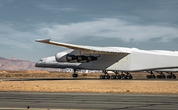Stratolaunch airplane has a wingspan of 117 metres and is the largest airplane in the world. Image: Stratolaunch