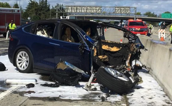 The Tesla Model X in the Mountain View crash also collided with a Mazda3 and an Audi A4, before the batteries burst into flame