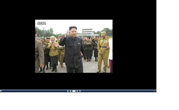 North Korea leader Kim Jong-un says 'hi'