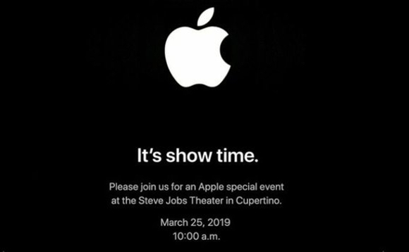 It's show time: The invitation to Apple's Netflix rival on 25 March 2019 at the Steve Jobs Theater