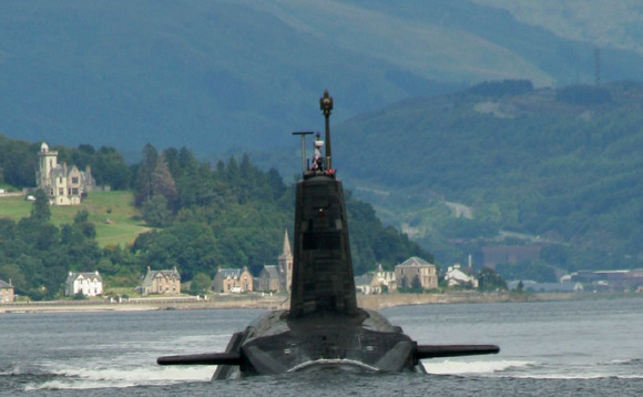 The Trident missile was fired from HMS Vengeance